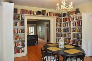 Já pensou em decorar sua residência com estantes de livros?